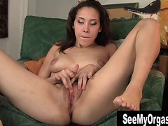Amateur Brunette Dildo Feet Fingering