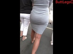 Amateur Ass Babe Brunette Dress